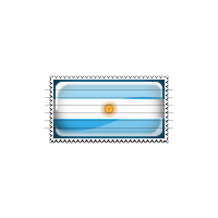 Argentina Flag Stamp Icon