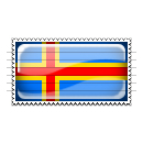 Aland Flag Stamp Icon