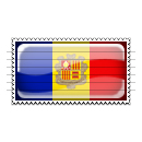 Andorra Flag Stamp Icon