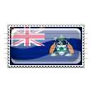 Ascension Island Flag Stamp Icon