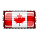 Canada Flag Stamp Icon