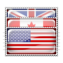 Country Flag Stamp Icons Set