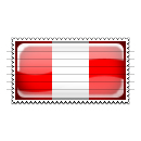 Peru Flag Stamp Icon