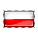 Poland Flag Stamp Icon