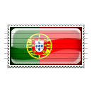 Portugal Flag Stamp Icon