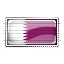 Qatar Flag Stamp Icon
