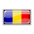 Romania Flag Stamp Icon