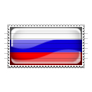 Russia Flag Stamp Icon