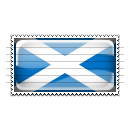 Scotland Flag Stamp Icon