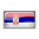 Serbia Flag Stamp Icon