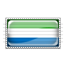Sierra Leone Flag Stamp Icon