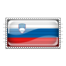 Slovenia Flag Stamp Icon