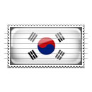 South Korea Flag Stamp Icon