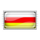 South Ossetia Flag Stamp Icon