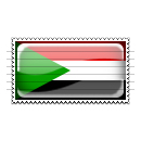 Sudan Flag Stamp Icon