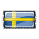 Sweden Flag Stamp Icon