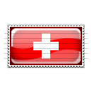 Switzerland Flag Stamp Icon