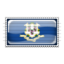 Connecticut Flag Stamp Icon